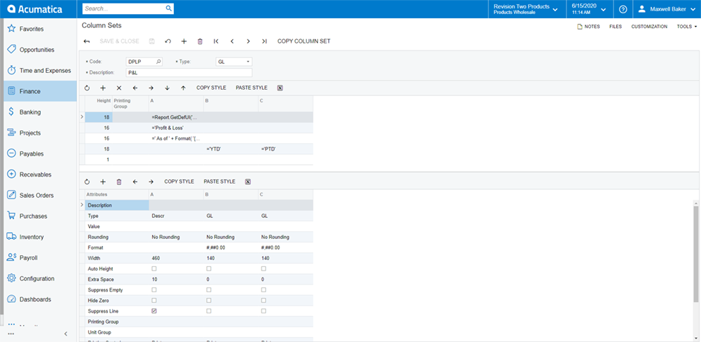 Acumatica Analytics Reporting Manager (ARM) 6