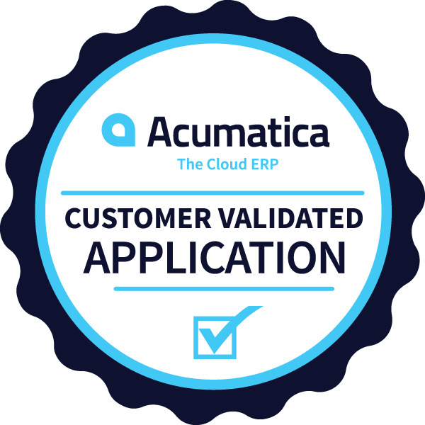 Acumatica Customer Validated Badge