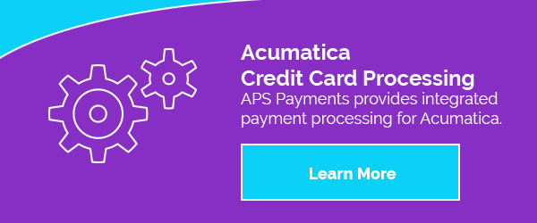 Acumatica Integrated Payment Processing