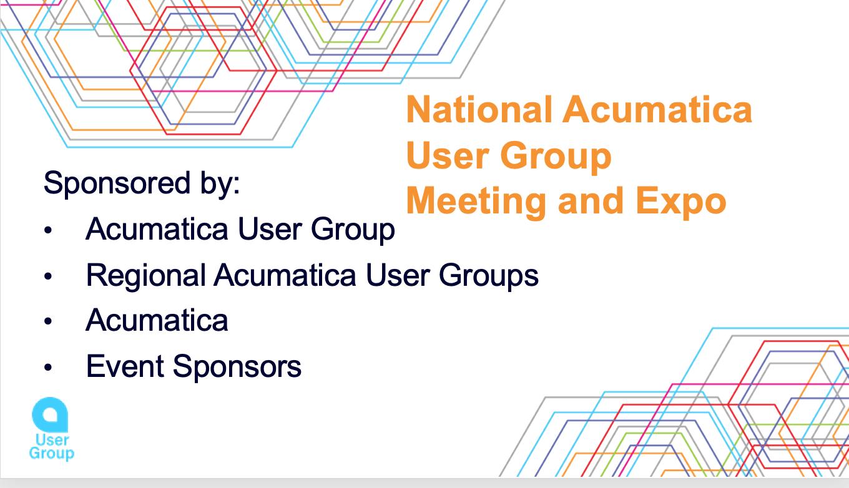 National Acumatica User Group Meeting and Expo Atlanta