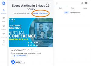 acuCONNECT 2020 FAQ Create Profile