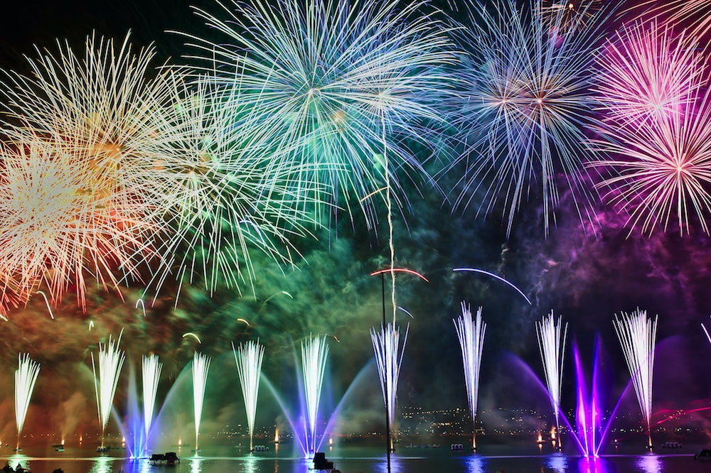 Blog header image of fireworks to show the excitement of the 2020 acuCONNECT conference by Acumatica partners at acu-connect